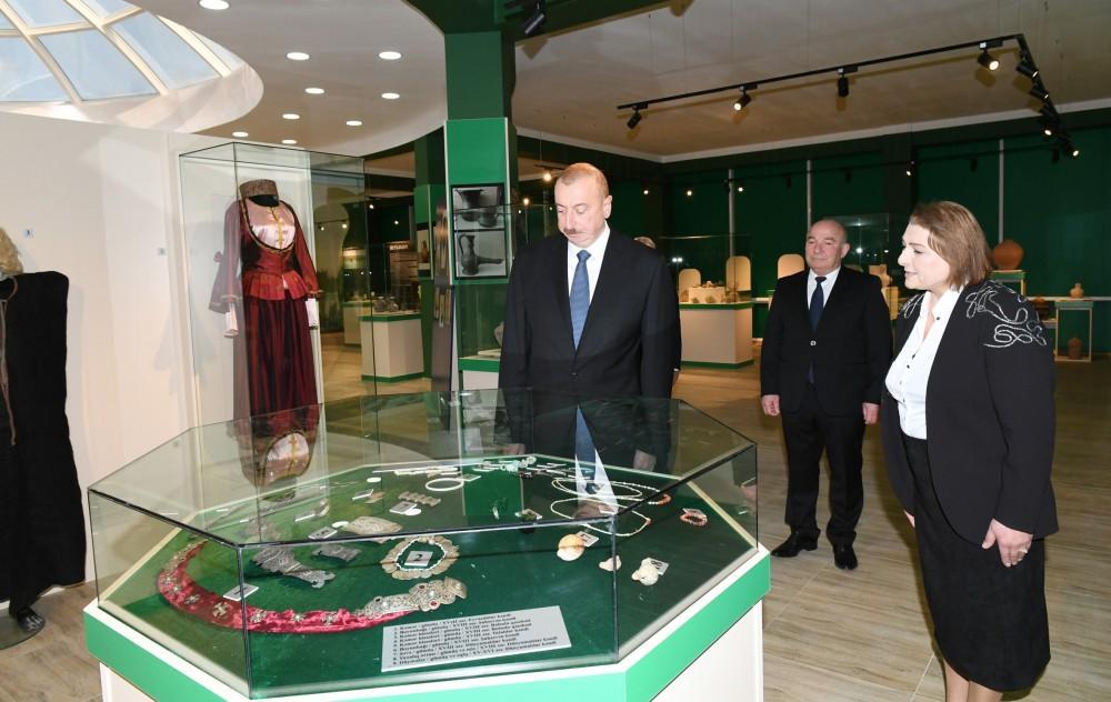 Президент принял участие в открытии историко-краеведческого музея в Бейлагане